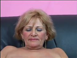 Bigtit granny  drilled by a young musclestud