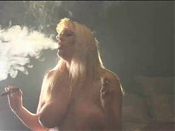 Smoking fetish - Beautiful Blond smoking and riding