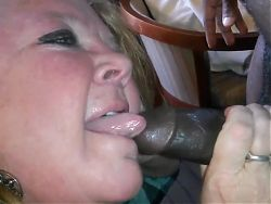 Big Tits BBW Granny Having Fun With Black Man