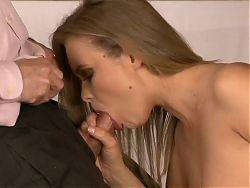 She seduces him at work