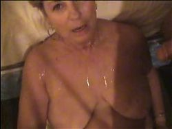 Big Titty Milf Takes Double Facial