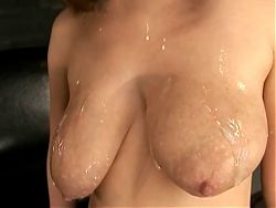 Beautiful Breast Filled with Anna Scatters Milk