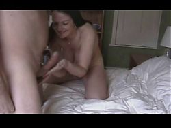 Natural Brunette Girl Gets Creampie