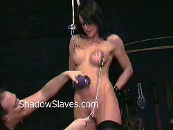 Busty Danii Blacks nipple torture and big tit clamping