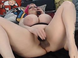 Amazing Orgasm Pinky with big unreal tits squirting