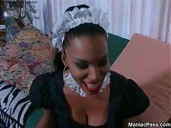 Soleil busty ebony maid banging